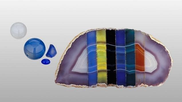 Fake Agate's color variation