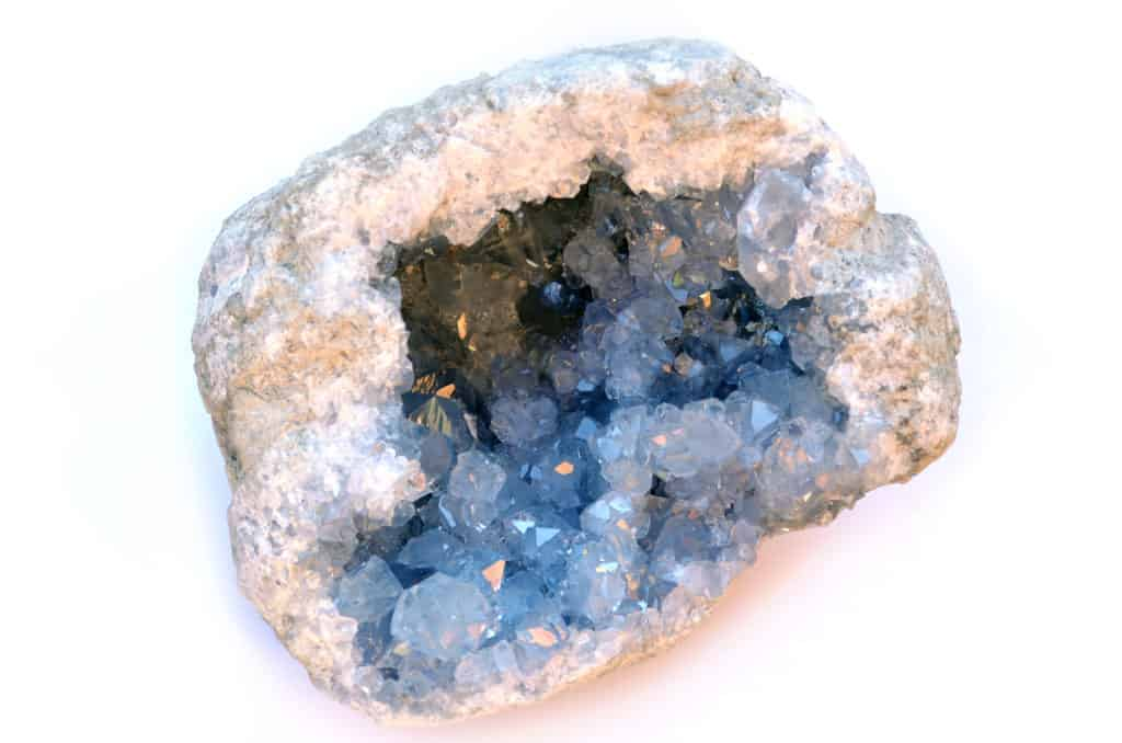 Geode with Celestine Crystals